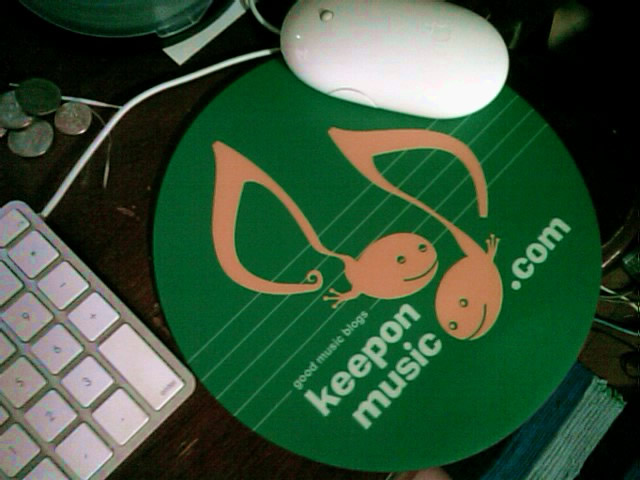 keeponmusic mouse pad