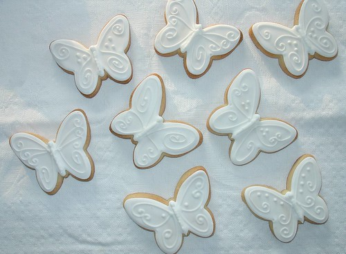 White Butterfly Cookie