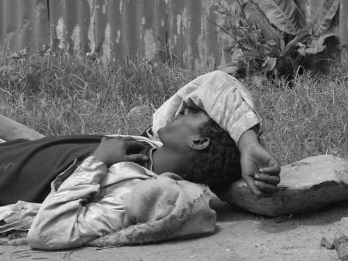 Vagabundo en la Piazza (Addis Abeba