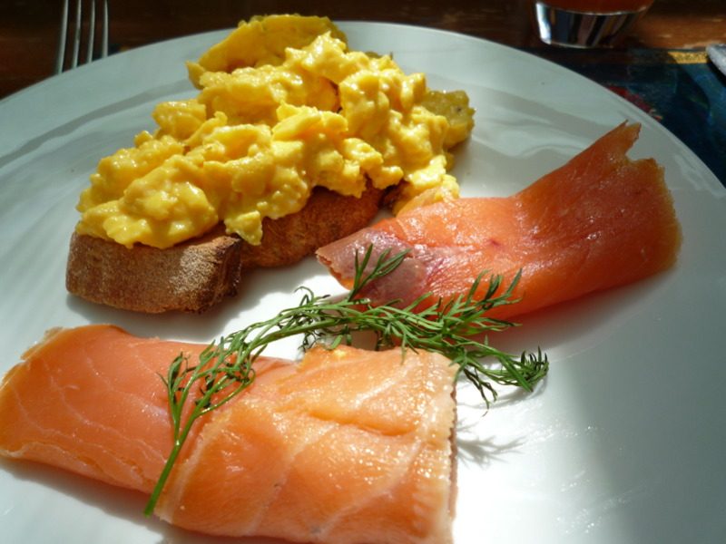 Scrambles and salmon