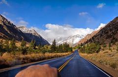 Lundy Canyon on 10/4/08 (kh-photos ~ Kurt ~) Tags: road autumn snow mountains clouds sierra aspens sierranevada lundy monocounty