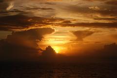 Sunrise - The sun peaks above the cloud line (atbattson) Tags: caribbean sunsetsunrise freedomoftheseas caribbeanskys
