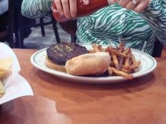 Veggie Burger (kshilcutt) Tags: restaurant burger houston memorialcitymall sportatorium becksprime
