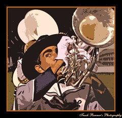 Play That Horn! (TrackRunner09) Tags: game night photoshop outside band marching halftime frenchhorn hdr rebels hhs colorphotoaward trackrunner09 trackrunnersphotography