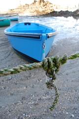 Saint-Lunaire - bateau - corde - noeud
