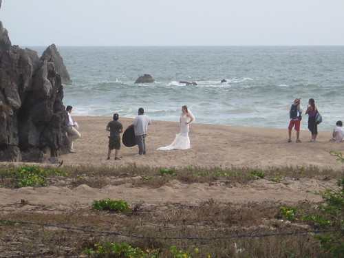 Beach wedding at Tenacatita
