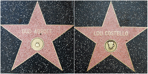 Bud's and Lou's Walk of Fame Stars