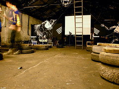 2pre02. (spuddleyspudd) Tags: cinema musicians scotland diy lowlight glasgow warehouse german silentmovie screening pointlesscreations spudd lowsalt conradveidt paulwegener photographism juddbrucke thenowmuseum thestudentofprague livemusicalscore