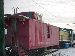 Wintertime at the Fox River Trolley Museum. South Elgin Illinois. December 2007.