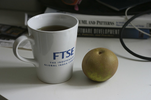 Tea and an apple