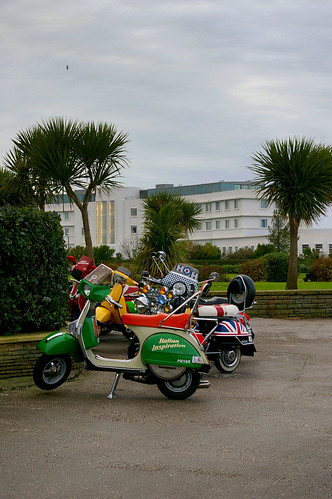 Scooters at Morecambe