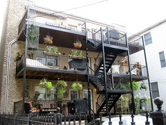 Back Balconies (Eridony) Tags: plants chicago illinois apartments balconies andersonville