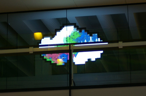 Pixelcloud projection on the upper story