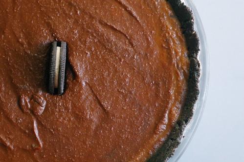 no-bake chocolate pumpkin pie