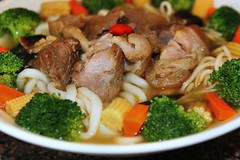 Pig Hock Udon -     (CharlieBrown8989) Tags: food mushroom closeup canon pepper ginger yahoo udon interestingness flickr zoom herbs salt picasa broccoli vegetable best explore carrot garlic noodles tele soysauce onion tamron hog charliebrown8989 broth corel babycorn charliebrown8989sgourmet strawmushroom lycium goldenniddlemushroom pighock paintshopproxi