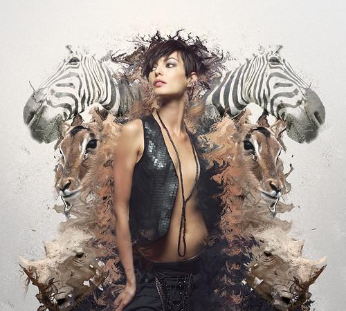 [フリー画像] 人物, 女性, グラフィックス, フォトアート, 201005021500
