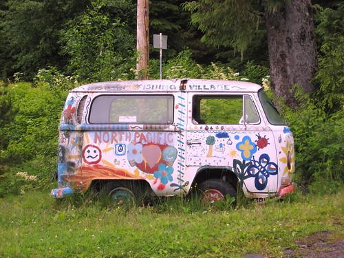 Hippie Bus - a Volkswagen Type 2 Van