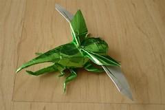 Flying Hercules Beetle (shuki.kato) Tags: insect origami beetle hercules scarab satoshi kamiya