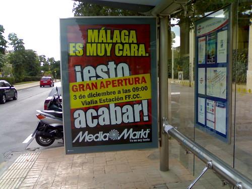 Carteles de MediaMarkt en Malaga