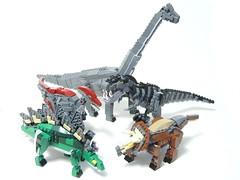 Family as of 11/30 (psiaki) Tags: park family lego dinosaur stegosaurus jurassic trex tyrannosaurus triceratops moc brachiosaurus parasaurolophus