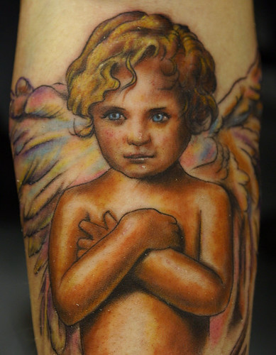 angel-child-tattoo by The Tattoo Studio