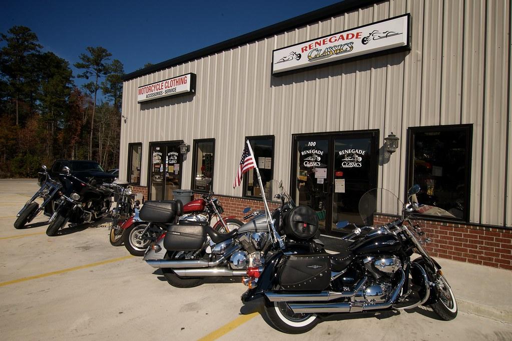 Frontage (Renegade Classics Savannah) Tags: Bike Honda Lights Clothing  Parts Victory Harley Gloves