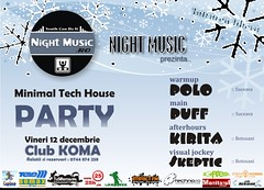 12 Decembrie 2008 » Minimal Tech House Party
