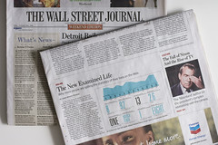 Un ejemplar del Wall Street Journal