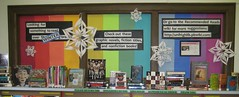 Winter reading (nataliesap) Tags: winter december display highschool winterbreak bookdisplay liblibs unihigh