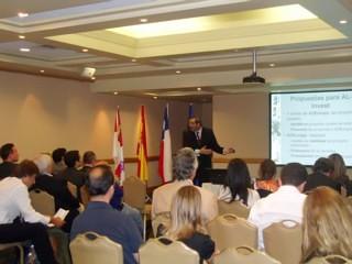 junta de castilla y leon y Fundcion Adeuropa , reunion en chile