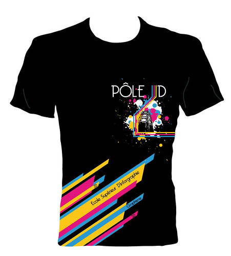 Black Design T-shirt - Pole 3D