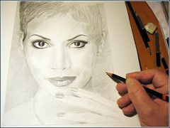 Halle Berry. work in progress (pbradyart) Tags: portrait art pencil movie star sketch artwork drawing moviestar pencildrawing halleberry