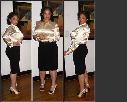 plain black skirt white top -- yeah,.. no