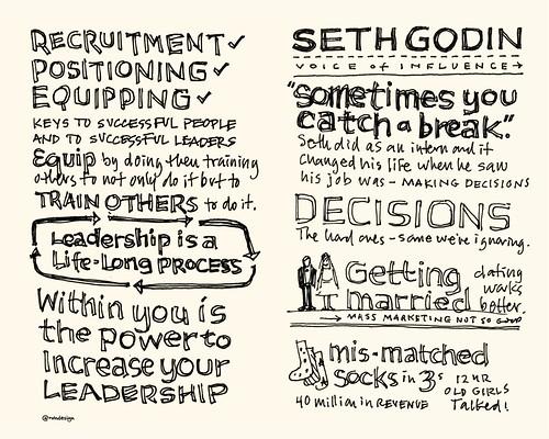 Chick-Fil-A Leadercast Sketchnotes 05-06 - John Maxwell / Seth Godin