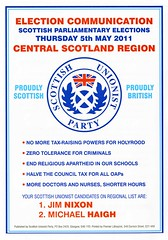 Scottish Unionist Party, Scottish Election Leaflet 2011 (Scottish Political Archive) Tags: party scotland election scottish nixon publicity unionist campaign haigh 2011