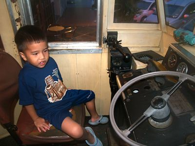 Julian in the locomotive