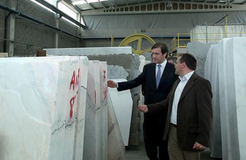 Pedro Passos Coelho visita Empresa de de Granitos de Vila Pouca de Aguiar-