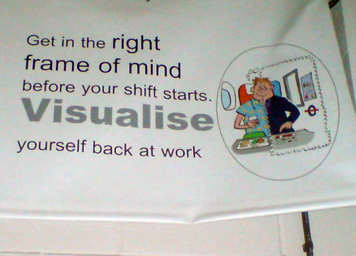 visualise yourself back at work