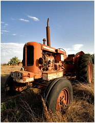 retired rusty tractor , Cyprus