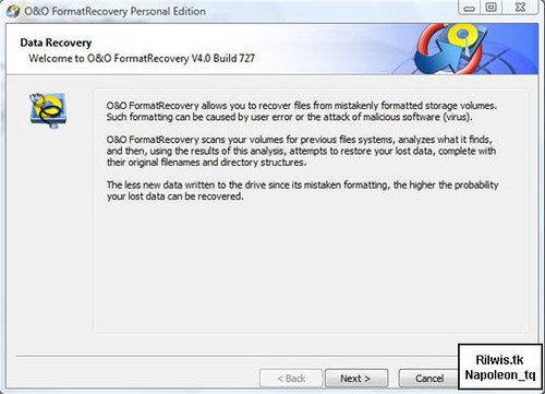 O&O FormatRecovery   Phục hồi cả phân vùng đã bị format