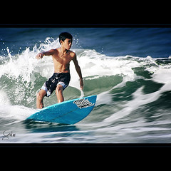 The Young Surfer (Soul101) Tags: ocean sea sports water kid child surfer philippines sigma wave duke surfing 300mm surfboard backside splash float bicol soe norte actionshot glide bagasbas daet camarines nikond40 aplusphoto soul101 theyoungsurfer
