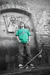 Selective Jake (Akeldema) Tags: old color green abandoned wall shirt digital canon kyle eos 350d rebel xt moss cool jake awesome bricks skating vincent tracks skaters skate graffitti coloring tanner sonomacounty skateboards mack selective healdsburg koo