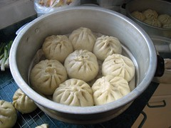 Baozi, freshly steamed