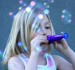 Bubble Bokeh (CrzysChick) Tags: summer childhood season fun toy toys spring seasons bokeh bubbles blowing explore bubbly blowingbubbles explored bubblebokeh