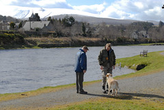 Jimmy and his blind dog (PanuK) Tags: flyfishing spey