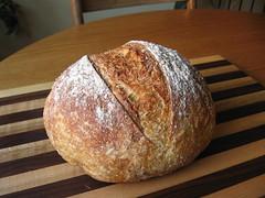 Almost No-Knead Whole-Wheat Bread