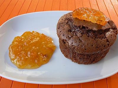 moelleux au chocolat et marmelade de mandarine.jpg