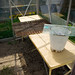 Pasting table in the greenhouse