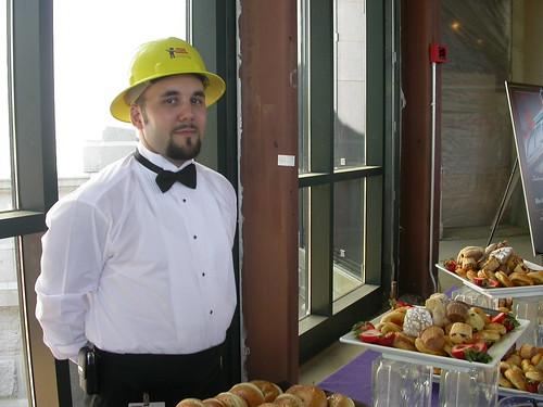 Greg the caterer in hardhat