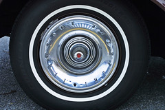 Imperial Hubcap (bcostin) Tags: vintage antique imperial hubcap 1962 carshow canond30